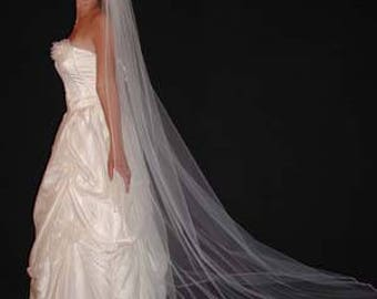 """108"""" Cathedral Veil with Satin Cord Edge"""