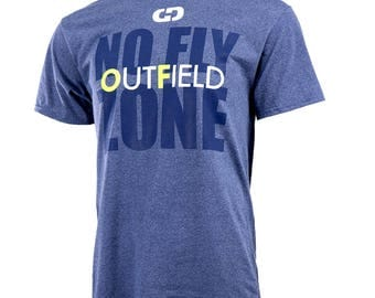 Outfield - No Fly Zone Short Sleeve Softball T-shirt, Softball Shirts, Softball Gift - Free Shipping!