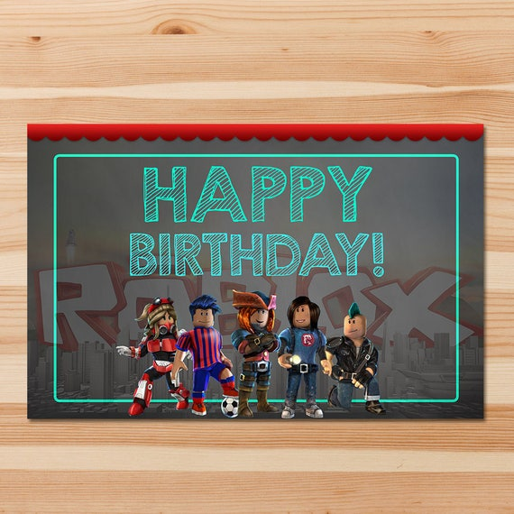 Roblox Party Placemats - Chalkboard - Roblox Place Settings - Roblox Birthday Party - Roblox Printable - Roblox Birthday Party Favor