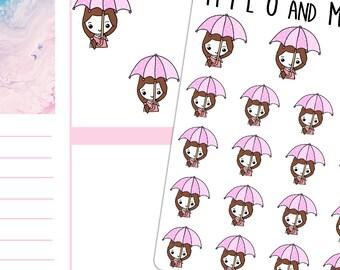Umbrella Girls | Planner Stickers | Multiple styles