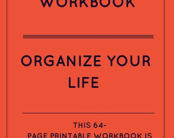 GET ORGANIZED WORKBOOK - Personal & Estate Information - 64-page digital Download - Priceless Gift