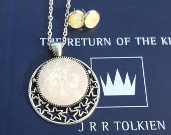 White Wizard Faux Opal Jewelry, Fire Opal Gems, Fairytale Jewelry, Fantasy, Fire Opal Earrings, Fire Opal Pendant, Wizard Jewelry
