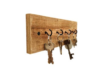 Reclaimed Wood Key Holder - key hanger key hook rack key rack key hooks wood wall hooks wall decor rustic wall hooks pallet wood key holder