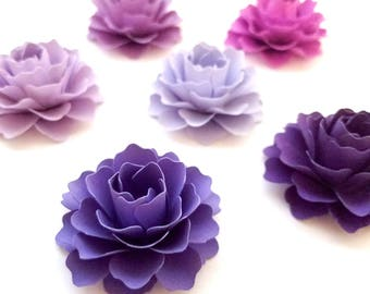 """2"""" Purple Paper Flowers (Set of 50) 