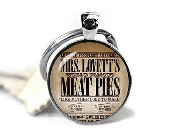 Mrs Lovetts Meat Pies Keychain  Lovetts Meat Pies Recipe Key Ring Sweeney Keychain