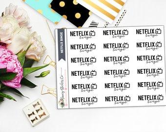 Netflix Binge Planner Stickers