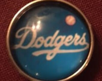 Dodgers 18mm Interchangeable Snap - Show Your Support