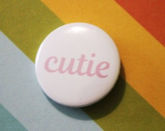 Cutie Badge 25mm Pinback Button White