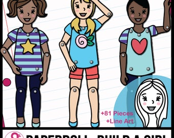 Paper Doll Craft: Make a Movable Girl Doll