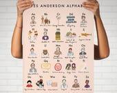 Wes Anderson Alphabet Poster 16x20 - moonrise kingdom grand budapest hotel royal tenenbaums darjeeling limited fantastic mr fox movie art