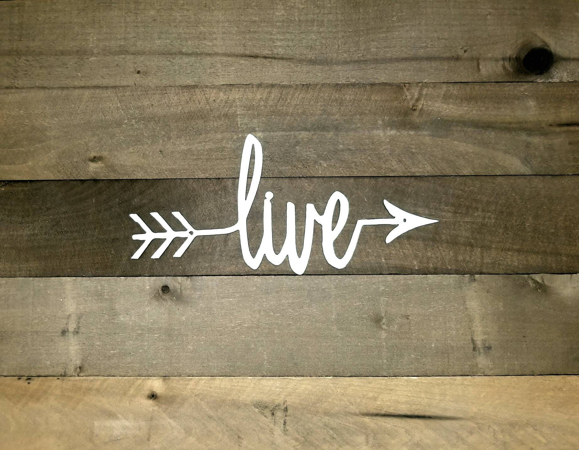 Live signlive arrow metal wall artcursive live wordlive zoom amipublicfo Image collections