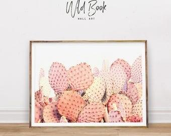 Cactus Print, Creamy Cactuses, Cacti Print, Watercolor Cacti, Succulent Wall Art, Cactus Art, Watercolor Art, Nursery Decor, Digital Print