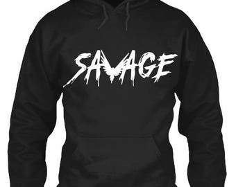 Savage Hoodie. Savage Sweatshirt. Jake Paul Sweatshirt. Savage Hooded Sweatshirt  YOUTH SIZES AVAILABLE