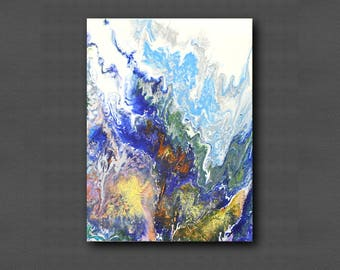 Acrylic pour art, Acrylic Pour Painting, Abstract Fluid Painting, Small painting, Original Painting, Modern Wall Art, abstract art