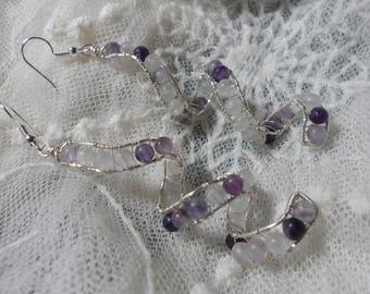 Fluorite Twirl Drop Earrings