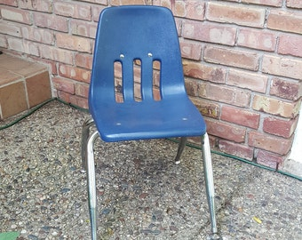 Vintage Child's School Chair~Virco Plastic & Chrome School Chair~Toddler Chair~Kid's Chair~Desk Chair~Price is for One/8 are Available