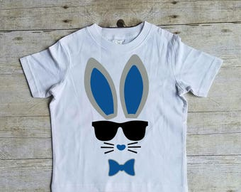 Bunny T Shirt, Easter Shirt, Cool Bunny, Easter T Shirt for Boys, Trendy Easter Shirt, Hip Easter Shirt, Easter Bunny with Sunglasses