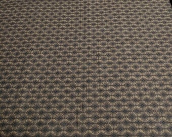 Brown Patterned-Diamonds-Cotton Fabric from Red Rooster
