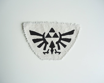 Zelda patch - Hyrule - Nintendo patch - Link - Triforce - Distressed Patch - Handmade - Screen Printed