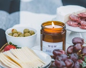 Summer Solstice - 9oz Pure Soy Wax Candle in Amber Jar with Lid