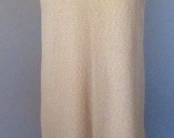 Neiman Marcus Cream Colored Knit Shift Dress