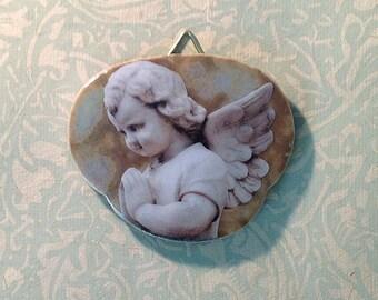 Little Angel praying art tile