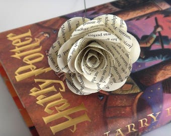 Harry Potter Book Page Flowers, White Book Page Roses