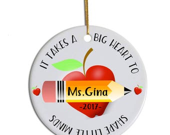 Teacher Ornament, Gift for Teacher, Teacher Christmas Ornament, Teacher Appreciation Gift, Graduation Gift, Personalized Ornament Teacher