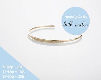 Personalized Cuff Bracelets, Stacking Bracelet, Inspirational Bracelet, Engraved Cuff Bracelet, Gold name Bracelet, Dainty Bracelet