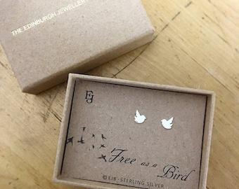 Sterling Silver 'Bird' Studs
