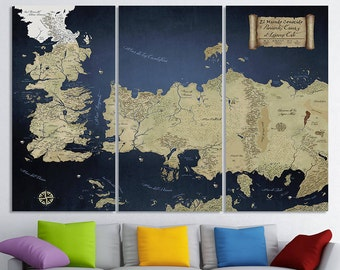 SPANISH LANGUAGE!!! Game Of Thrones Map Game Of Thrones Art seven kingdoms map ice and fire stark Game of Thrones Old westeros map Jon Snow
