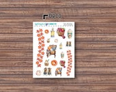 Fall Into Fall Deco Stickers | ECLP | Happy Planner | Recollections Planner