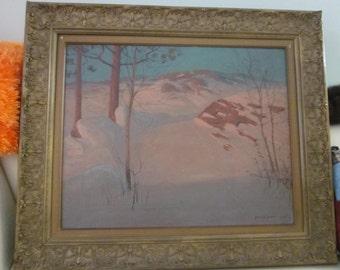 Svend Svendsen Signed Oil Painting c.1920's