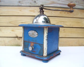 French Antique coffee grinder Peugeot lacquered cellulosic 1932, 1939 - french Antique coffee grinder Peugeot mill Grinder cellulosic lacquered