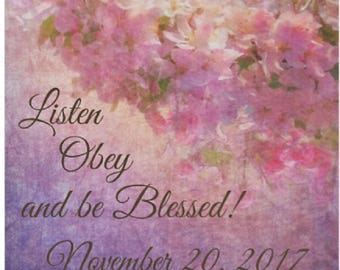 Jw Custom Fleece Baby Blanket | Listen obey be blessed | Jw Baby Gift | Jw Baby Shower