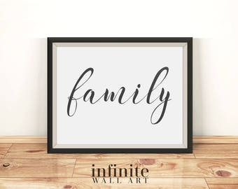 Family sign Family printable sign Family wall decor Family wall art Family print Family wall hanging Family housewarming gift