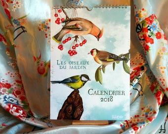 Calendar 2018 - garden birds