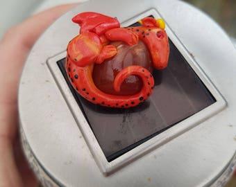 Lava dragon gem necklace