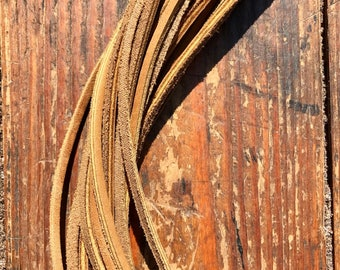 """12 Leather Laces 1/8"""" X 72"""" in Bulldog"""