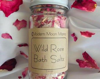 Wild Rose Bath Salts // 5 oz // High Vibration Soak