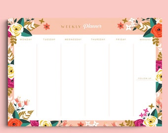 Peony Weekly Planner - Digital Template A4 & A3