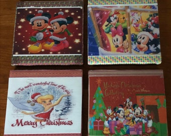 Decorative Disney Christmas Coaster Set of 4!