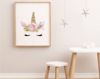 Girls bedroom art | Etsy
