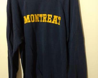 Vintage Sweatshirt MONTREAT North Carolina Navy & Yellow XL Cavaliers