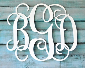 Nursery Wall Art, 3 Letter Monogram, Wall Monogram, Baby Shower Gift, Nursery Name Sign, Nursery Decor, Shower Guest Book, Baby Shower Decor
