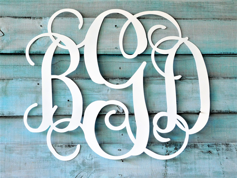 Ordinaire Nursery Wall Art, 3 Letter Monogram, Wall Monogram, Baby Shower Gift,  Nursery Name Sign, Nursery Decor, Shower Guest Book, Baby Shower Decor