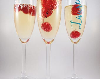 Personalised Limited Edition Champagne Flute