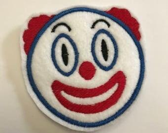 Clown Emoji Applique Embroidery Design - 3 Sizes - Multiple Formats - Digital Instant Download