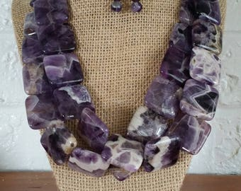 Amethyst Necklaces, Amethyst Jewelry, Big Bold Chunky Necklaces, Big Chunky Necklace, Chunky Jewelry Sets, Chunky Statement Necklaces, Stone