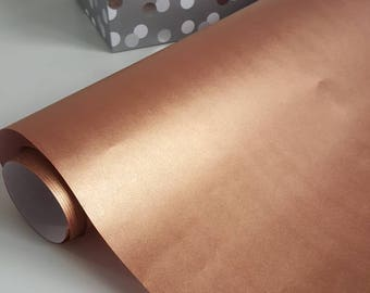 Rose gold /copper gift wrap, copper wrapping paper, 3m x 60cm 80gsm uncoated wrapping paper, fine quality wrap, party supplies, wrapping